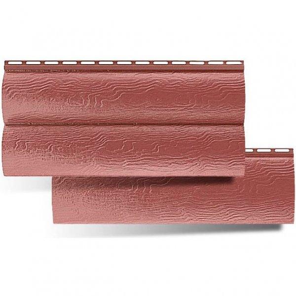 Сайдинг Альта-Профиль Blockhouse Красно-коричневый